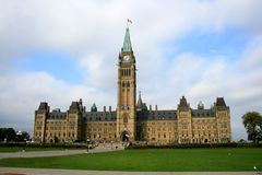 Canadian Parliament in Ottawa Stock Image