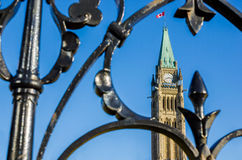 Canadian Parliament Peace Tower Royalty Free Stock Images