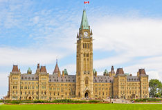 Canadian parliment. Building of the Canadian parliament in Ottawa Stock Image