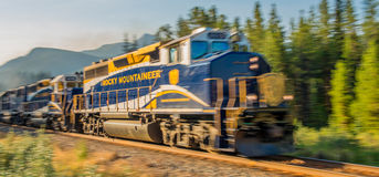 Canadian Passenger Train Service. Bow Valley Parkway Royalty Free Stock Photos