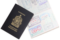 Canadian passport Stock Image