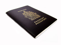 Canadian passport Stock Images
