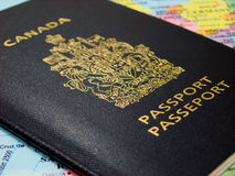 Canadian passport Stock Photo
