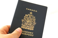 Canadian Passport With White Background Stock Photo
