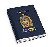 Canadian Passports Royalty Free Stock Photography
