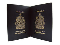 Canadian passports Stock Image
