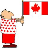 Canadian Patriot stock illustration