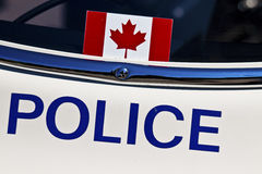 Canadian police inscription Royalty Free Stock Images