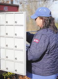 Canadian Postal Worker Stock Images