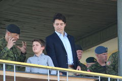 Canadian Prime Minister Justin Trudeau. Arrived in the Lviv region on July 12, 2016 to visit Europe's largest International Peacekeeping and Security Centre Royalty Free Stock Photos