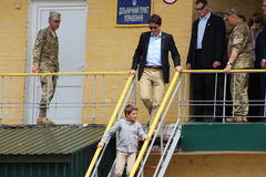 Canadian Prime Minister Justin Trudeau. Arrived in the Lviv region on July 12, 2016 to visit Europe's largest International Peacekeeping and Security Centre Royalty Free Stock Images