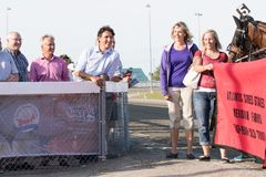 Canadian Prime Minister Justin Trudeau at Race Track stock photography
