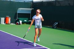 Canadian  Pro Tennis Player Eugenie Bouchard Royalty Free Stock Photos