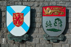 Canadian provincial coats of arms Royalty Free Stock Photos