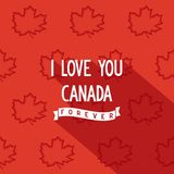 Canadian quote poster design Royalty Free Stock Images