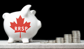 Canadian Registered Retirement Savings Plan Royalty Free Stock Photos
