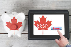 Canadian Registered Retirement Savings Plan concept Royalty Free Stock Photos