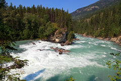Canadian river Ladscape. Panorama with rapids Stock Photo
