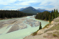Canadian river Ladscape. With sandy bank Royalty Free Stock Images