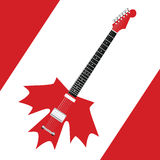 Canadian Rock Guitar Royalty Free Stock Image