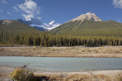 Canadian rockie mountains Royalty Free Stock Photo
