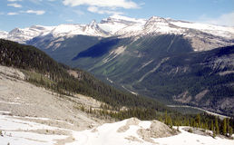 Canadian Rockies. We are in June and we can observe a mix of cold and heat in Canadian Rockies, Alberta stock photos