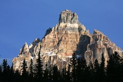 Canadian Rockies. Cathedral crags in the Canadian Rockies in Yoho National Park royalty free stock photo