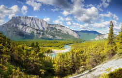 Canadian Rockies, Alberta. Bow Valley and Bow River, Banff National park, Canadian Rockies, Alberta, Canada Royalty Free Stock Image
