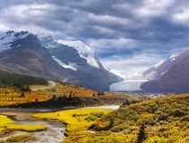 Canadian Rockies, Banff Jasper, Icefields Parkway, Athabasca Glacier Royalty Free Stock Photo