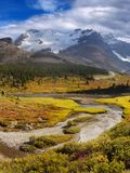 Canadian Rockies, Banff Jasper, Icefields Parkway, Athabasca Glacier Stock Image