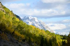 Canadian Rockies, Autumn Scenery of Icefields Parkway. Alberta, Canada stock image