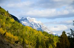 Canadian Rockies, Autumn Scenery of Icefields Parkway. Alberta, Canada stock images