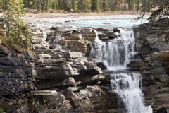 Canadian Rockies, Banff National Park. Athabasca Falls inlet Royalty Free Stock Photos