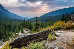 The Canadian Rockies in Banff stock image