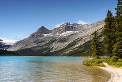 Canadian Rockies, Bow Lake Royalty Free Stock Photography