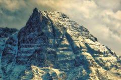 Canadian Rockies - goilden hour Stock Image