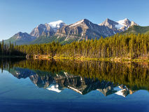 Canadian Rockies, Herbert Lake, Canada Stock Photo