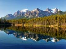 Canadian Rockies, Herbert Lake, Canada Stock Photo
