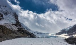 Canadian Rockies -Icefields Glacier Royalty Free Stock Image