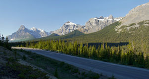Canadian Rockies - Icefields parkway road Stock Images