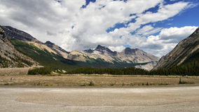 Canadian Rockies - Icefields parkway road Royalty Free Stock Images