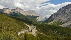 Canadian Rockies - Icefields parkway road Royalty Free Stock Photo