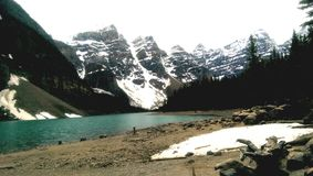 Canadian Rockies. Lake Moraine Canada mountains Stock Photography