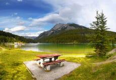 Canadian Rockies, Landscape Lake Mountains Stock Photos