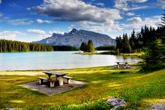 Canadian Rockies, Landscape Lake Mountains Royalty Free Stock Photo