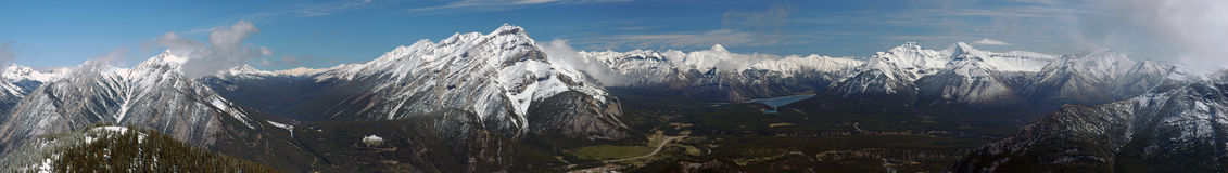 Canadian rockies panorama Royalty Free Stock Photos