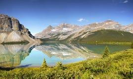 Canadian Rockies Panorama, Bow Lake Royalty Free Stock Photos