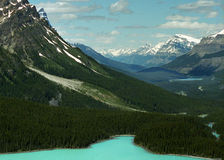 Canadian Rockies Panorama VI Royalty Free Stock Photos
