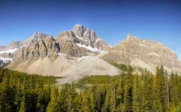 Canadian Rockies Panorama Stock Photography