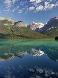Canadian Rockies reflection Royalty Free Stock Photography